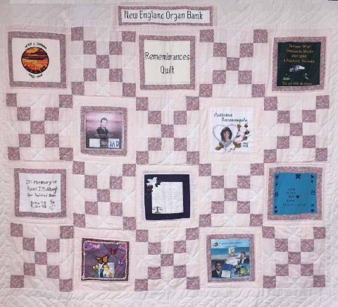 Quilt Project - Aftercare, New England Donor Services